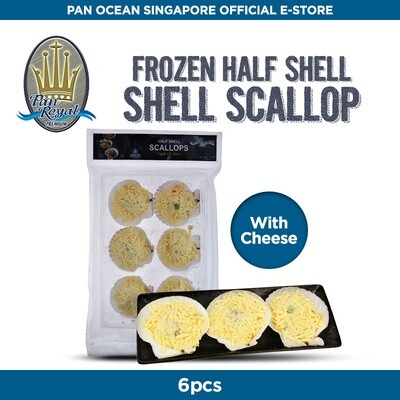 Pan Royal Half Shell Scallops (Cheese)