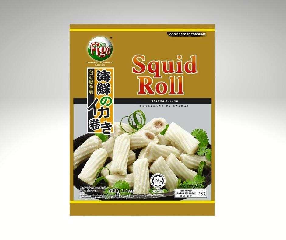 Pan Royal Frozen Squid Roll 500g
