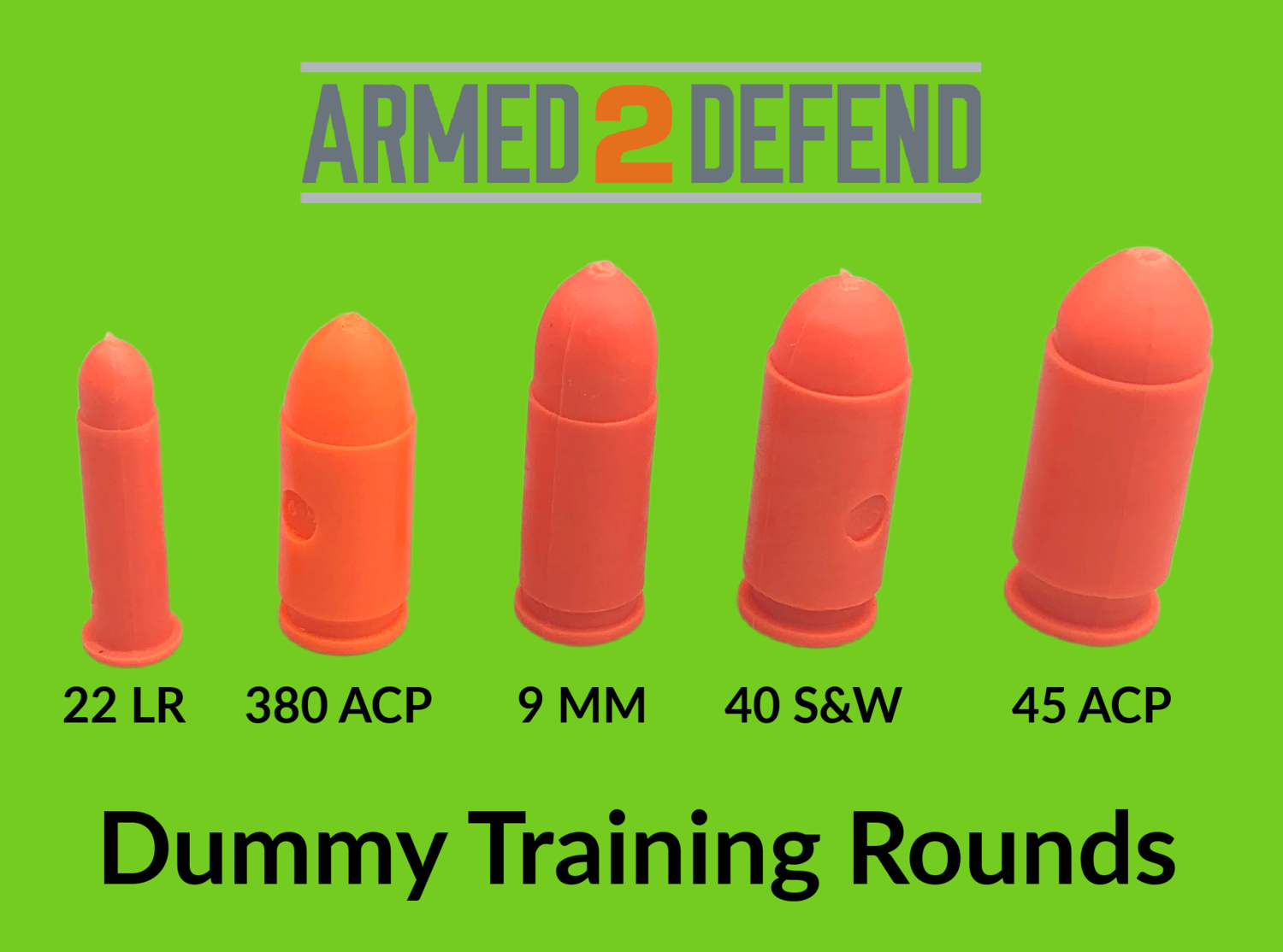 Orange Dummy Rounds for Pistol Training - Free Shipping!