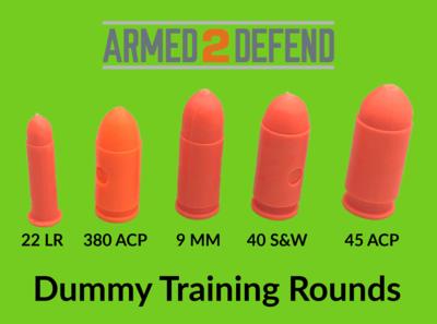 Orange Dummy Rounds for Pistol Training - Free Shipping!