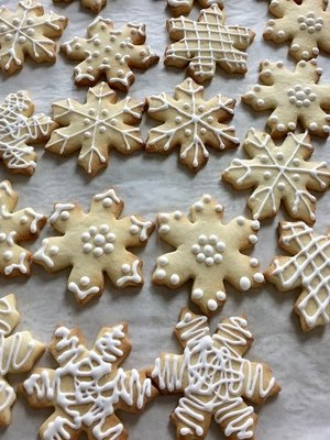 Shortbread Sugar Cookies. Assorted Shapes.  Bakers dozen(13)