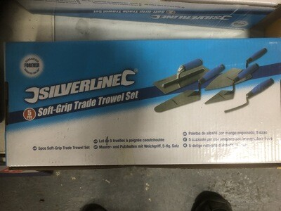Silverline Softgrip Trade Trowel 5 piece set