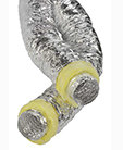 Sono4U Silver+ flexibel ge�soleerd geluiddempend luchtkanaal aluminium diam 102mm, lengte 10m