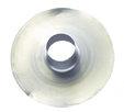 Ubbink Multivent plakplaat voor plat dak aluminium diam 131mm, hoogte 150mm 0169903