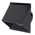 muur aan- en afvoerkap zwart diam 125mm 0188800