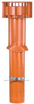 Ubbink Multivent ventilatie dakdoorvoer terracotta diam 131/750mm 0189350