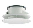 Imaginair regelbaar design ventiel, met montage veer Structuurwit diam 125mm, Square BCVI990127