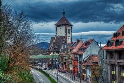 Schwabentor cloudy day