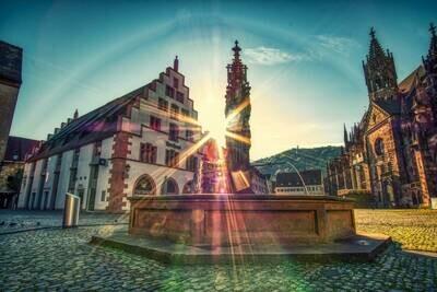 Kornhaus und Fischbrunnen Sunrise