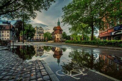 Freiburg - Turmhäuschen Spiegelung