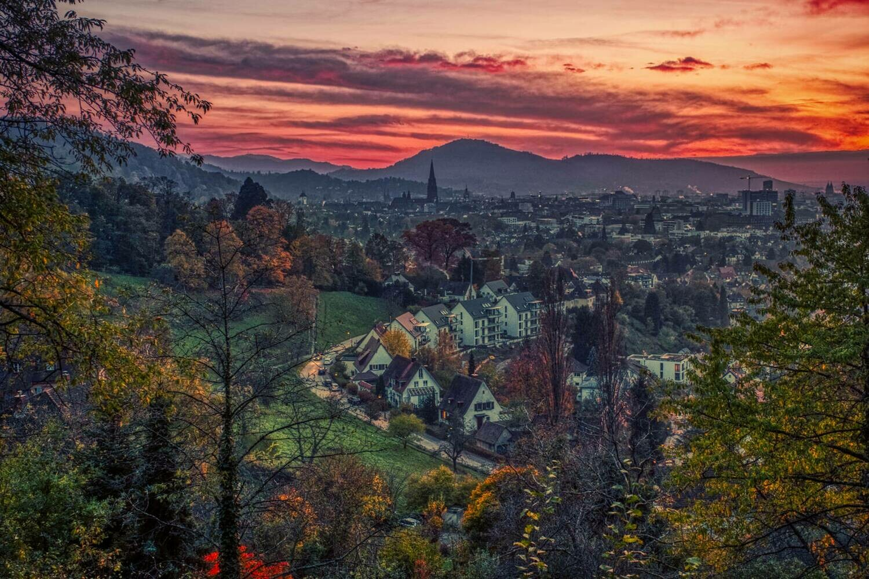 Freiburg - Red sky sunset