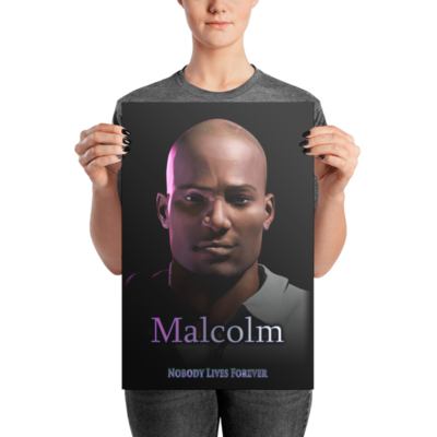 Malcolm NLF Photo paper poster