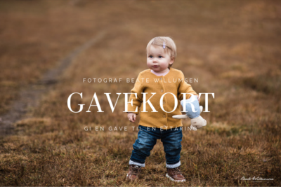 Gavekort på 1-årsfotografering