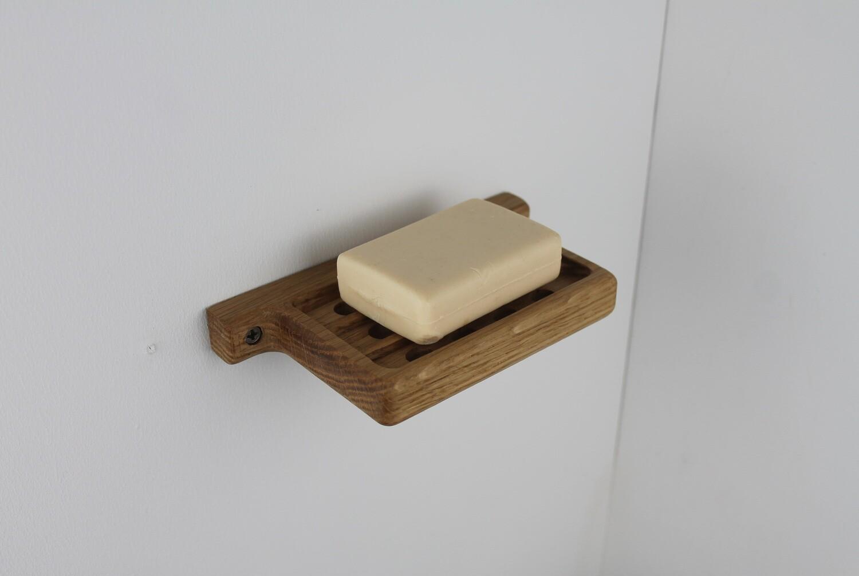 Oak Wall Mounted Soap Dish