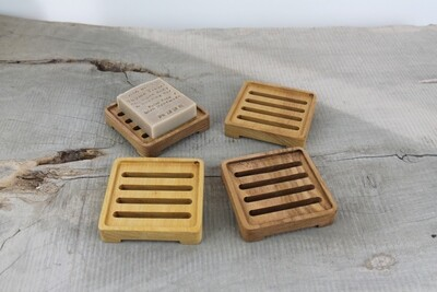 Wooden Self Draining Soap Dish, Plastic Free