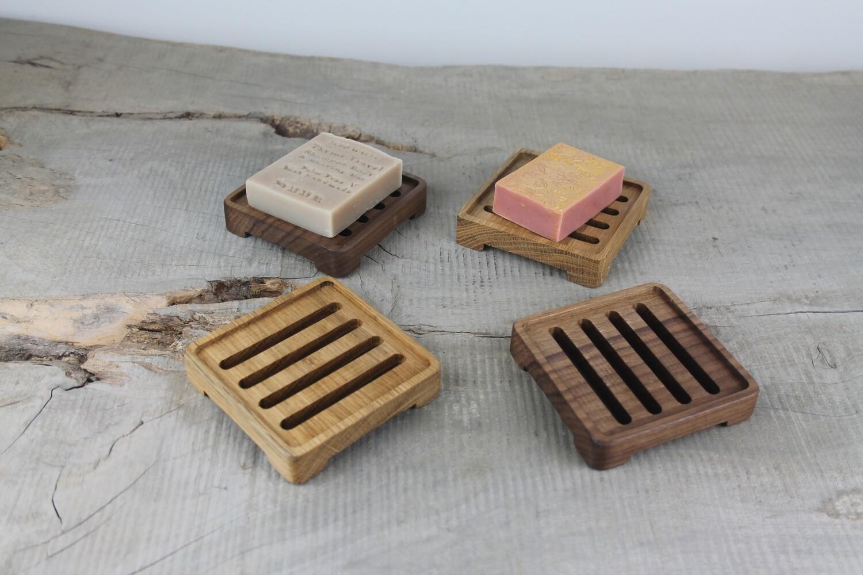 Wooden Draining Soap Dish,  Handmade Soap Tray