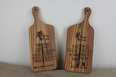Engraved Solid Wood Cheese Boards, Handmade