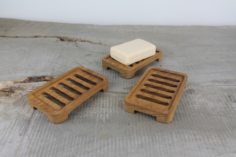 Draining Wooden Teak Soap Dish, Plastic Free