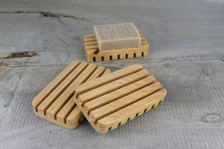 Cypress Pine Draining Soap Dish, Handmade, Plastic Free