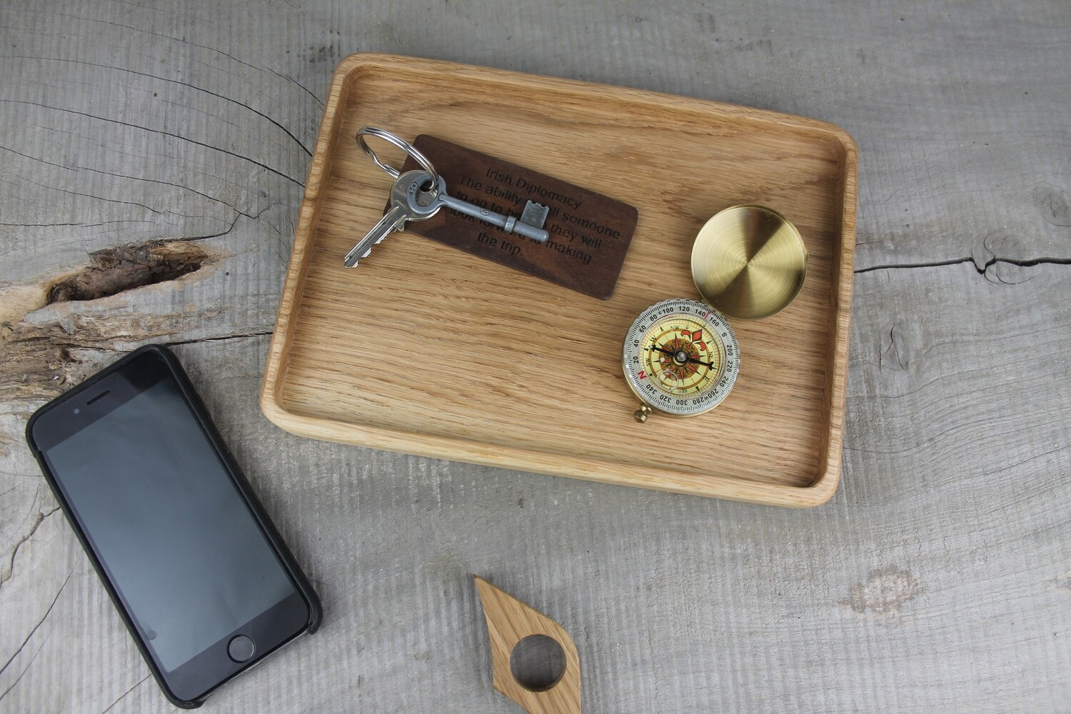 Handmade Wooden Valet and Catchall Tray