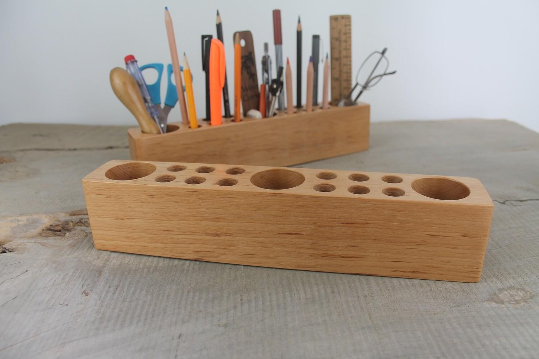 Beech Wood Desk Organizer, Desk Caddy