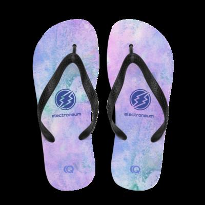 ETN Pink and Blue Flip-Flops