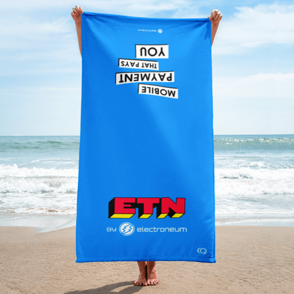 ETN by Electroneum - Beach Towel (Blue)