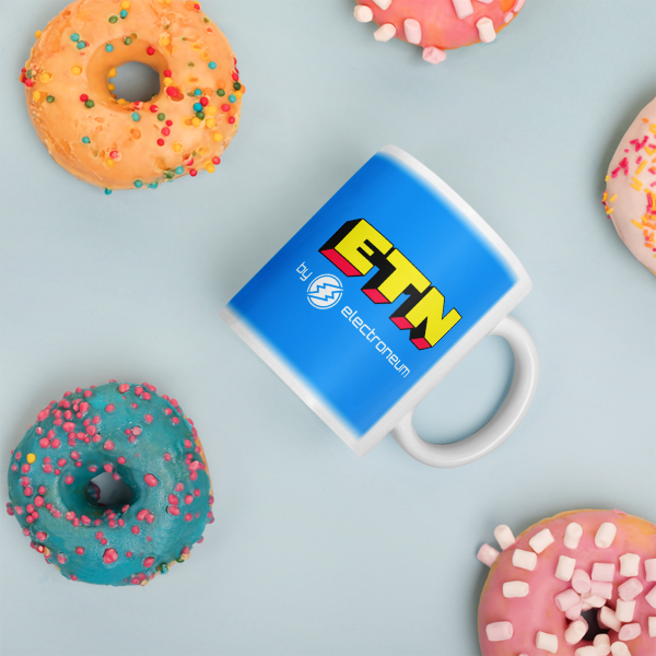 ETN by Electroneum Blue Mug