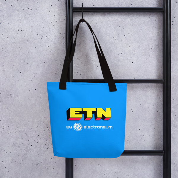 ETN by Electroneum (Yellow Wordmark) Tote bag