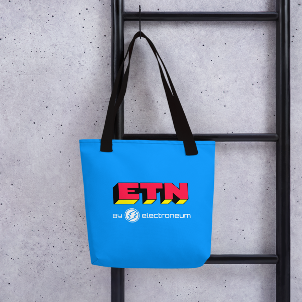 ETN by Electroneum (Red Wordmark) Tote bag