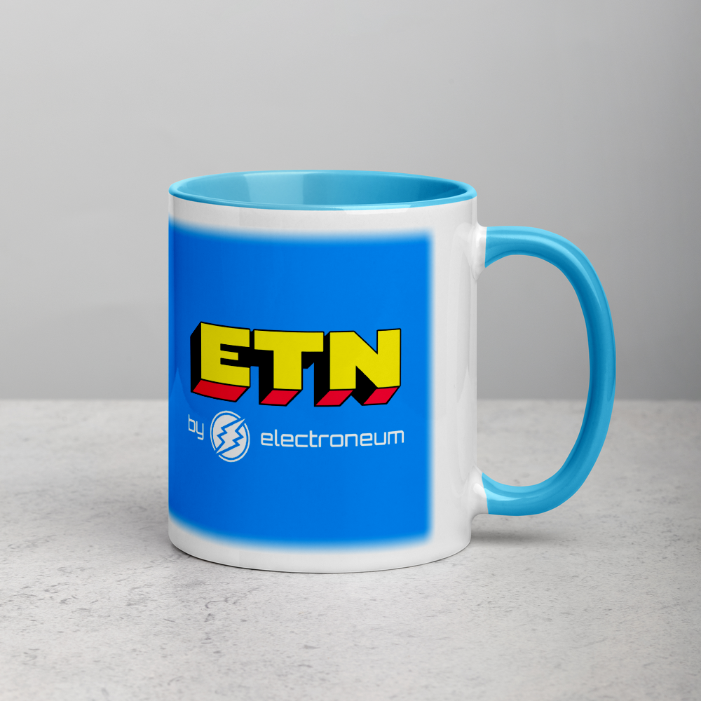 ETN by Electroneum Mug with Color Inside