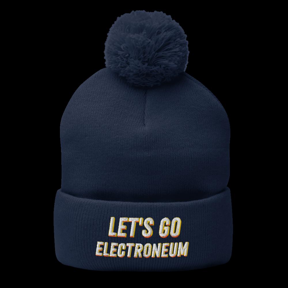 Let's Go Electroneum (Yellow Shading) Pom-Pom Beanie