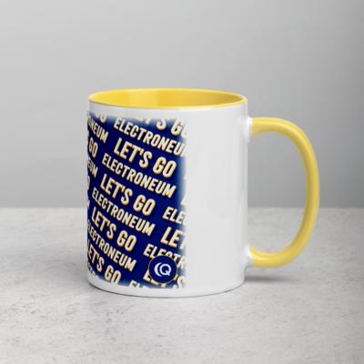 Let's Go Electroneum (Blue) Mug with Color Inside