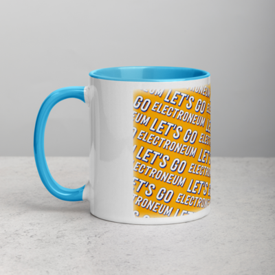 Let's Go Electroneum (Yellow) Mug with Color Inside