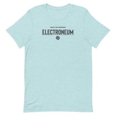 Electroneum Reach the Unbanked T-Shirt (Black Wordmark)