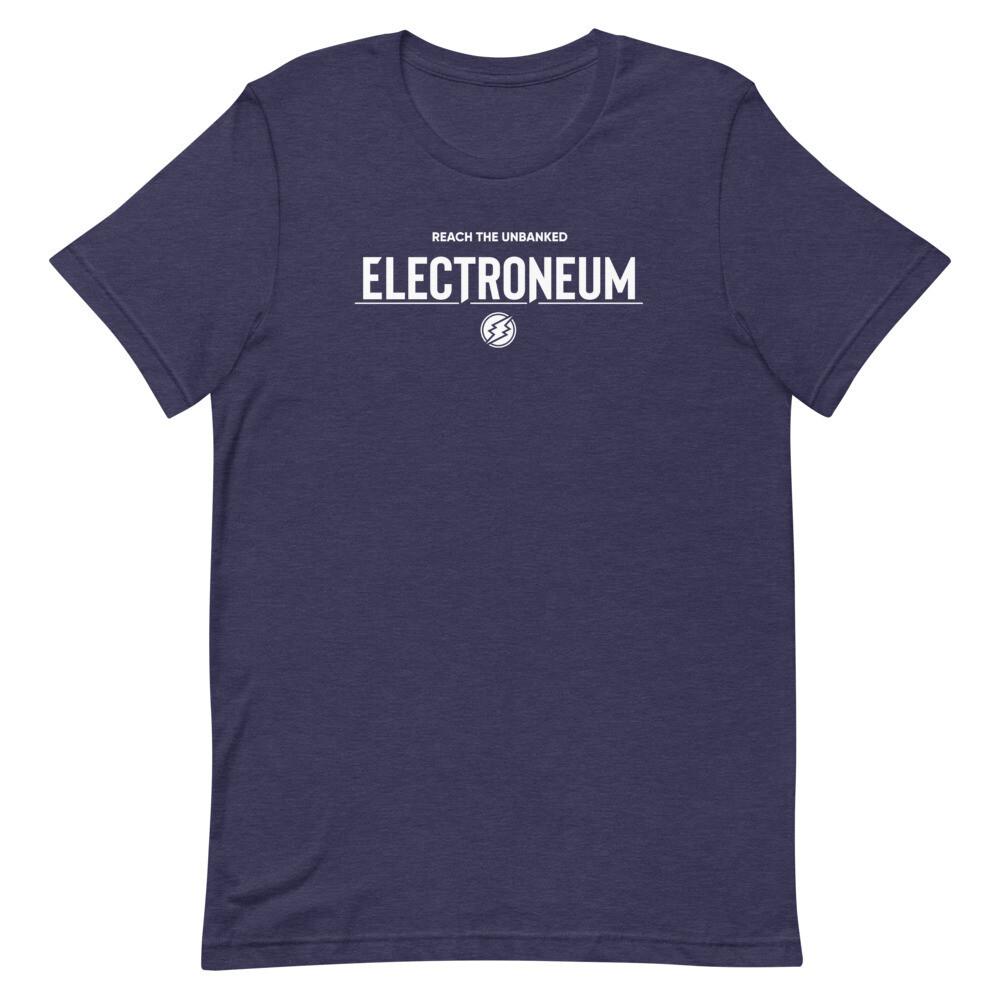 Electroneum Reach the Unbanked  T-Shirt (White Wordmark)