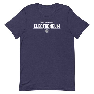 Electroneum Reach the Unbanked  T-Shirt (White Wordmark)