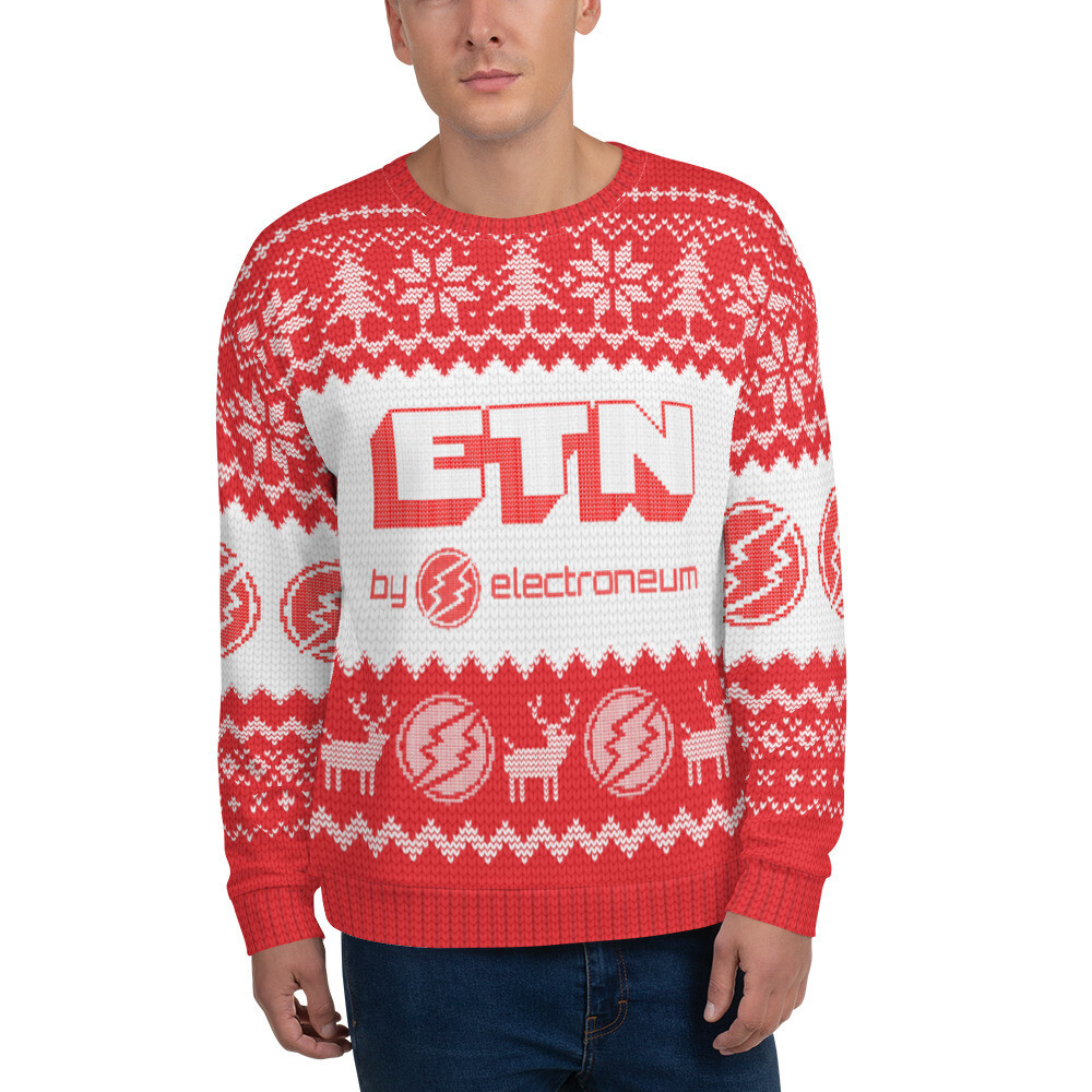 ETN by Electroneum Christmas Sweater (Red)