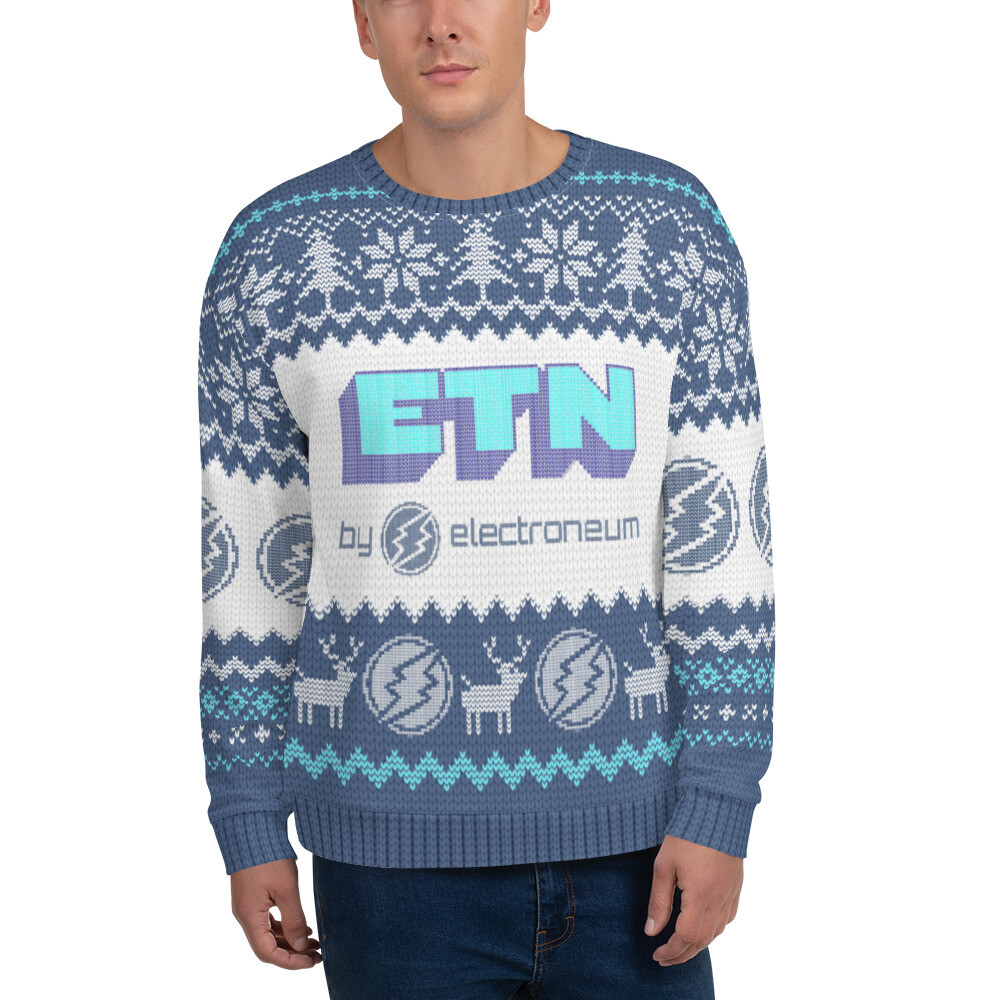 ETN by Electroneum Christmas Sweater (Blue)