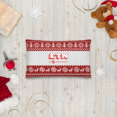 Electroneum Red Christmas Premium Pillow