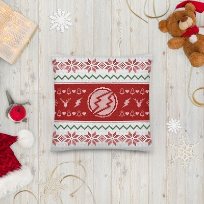 Electroneum Holiday Premium Pillow (Red)
