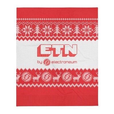 Electroneum Holiday Throw Blanket