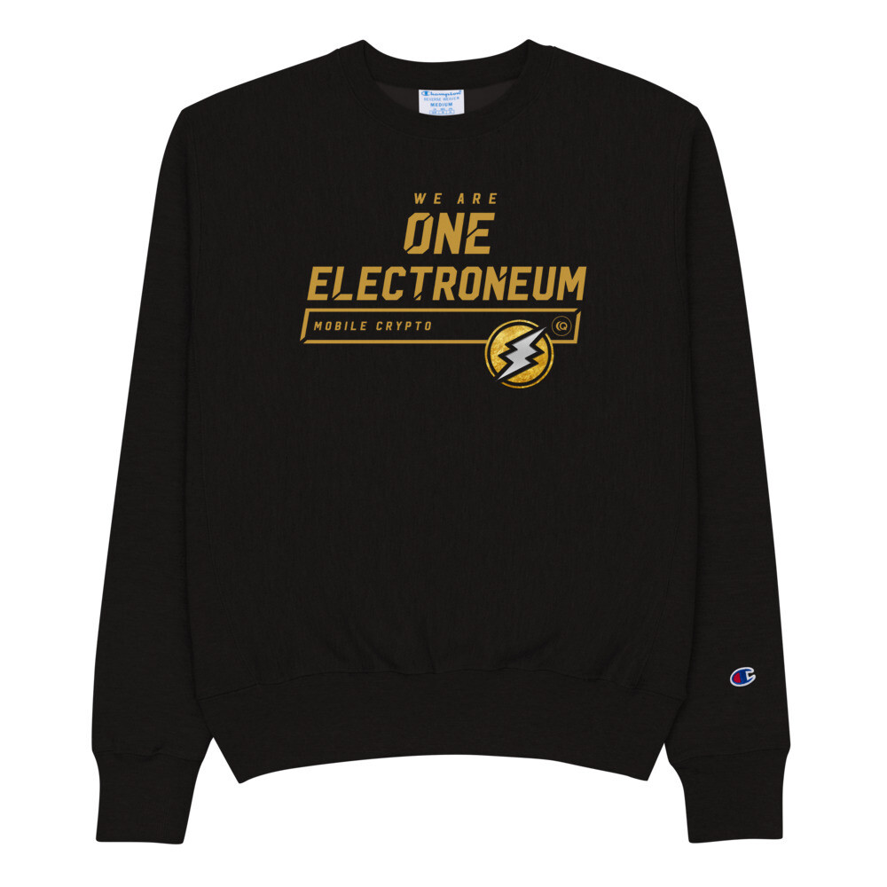 We Are One Electroneum Sweatshirt by Champion