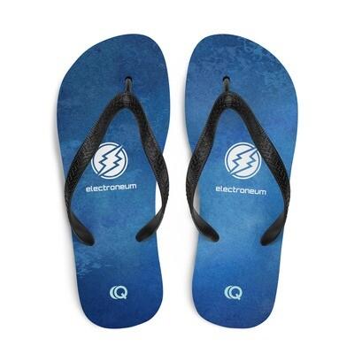 Dark Blue Watercolor Flip-Flops