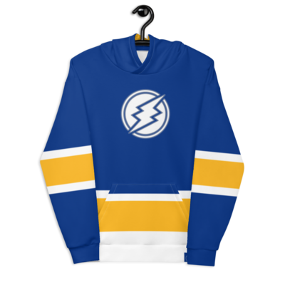 ETN Jersey Style Hoodie - Royal Blue & Gold