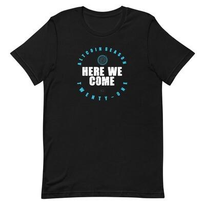 Here We Come - Altseason 2021 T-Shirt (White Wordmark)