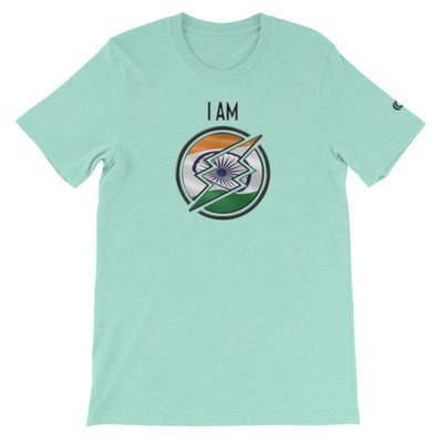 India - I AM T-Shirt (Black Metallic)