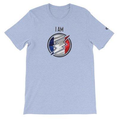 France - I AM T-Shirt (Black Metallic)