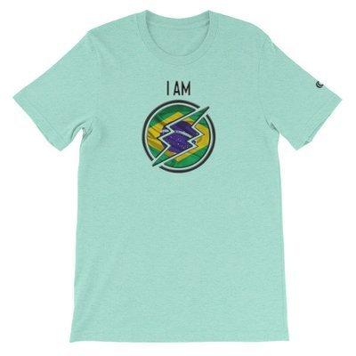 Brazil - I AM T-Shirt (Black Metallic)