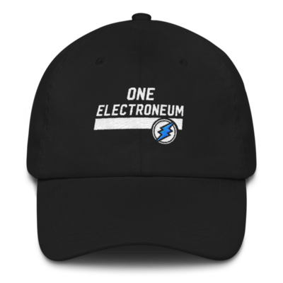 OneElectroneum Hat - White Logo